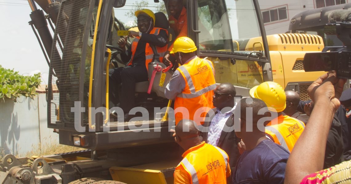TEMA INDUSTRIAL ENCLAVE ROADS CONSTRUCTION BEGINS AS VICE PRESIDENT BREAKS GROUND.